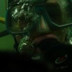 wydech nurka pod wodą